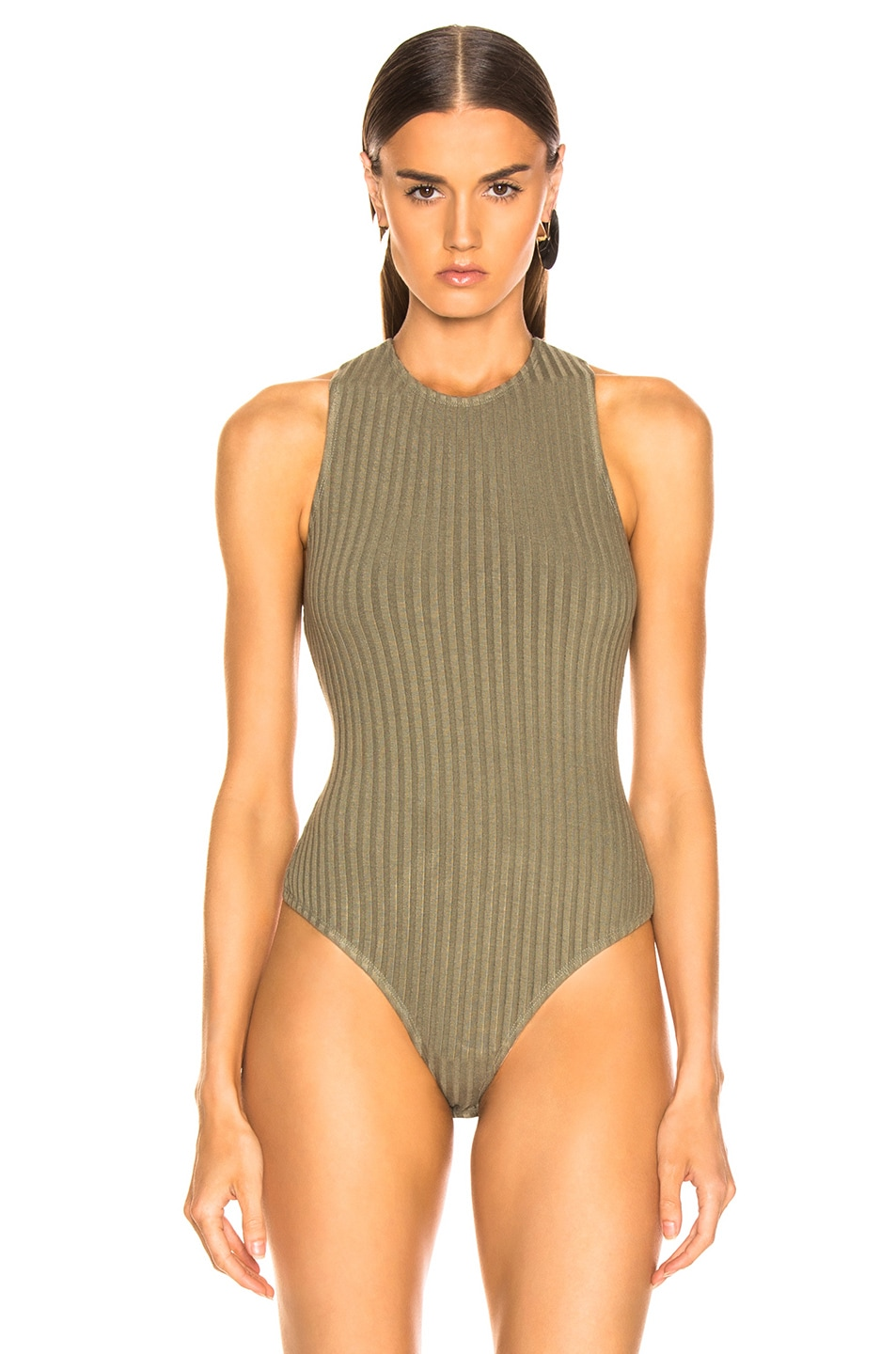 Image 2 of The Range Framed Rib Bodysuit in Combat
