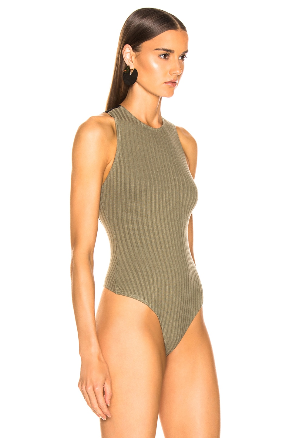 Image 3 of The Range Framed Rib Bodysuit in Combat