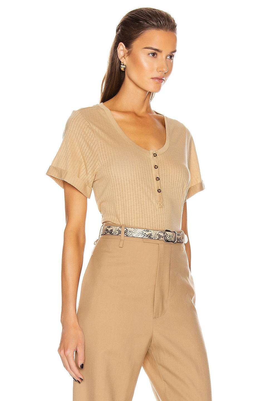 Image 2 of The Range Scoop Henley Shirt in Desert