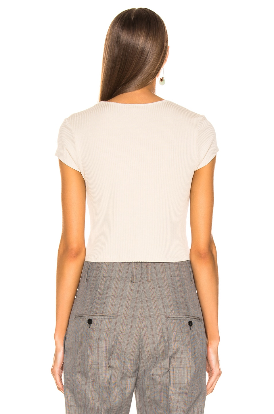 Image 3 of The Range Alloy Rib Cropped Tee in Limestone