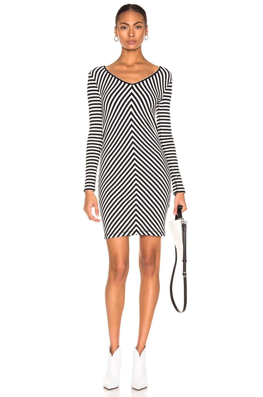 Image 1 of rag & bone/JEAN Halifax Mini Dress in Black & White