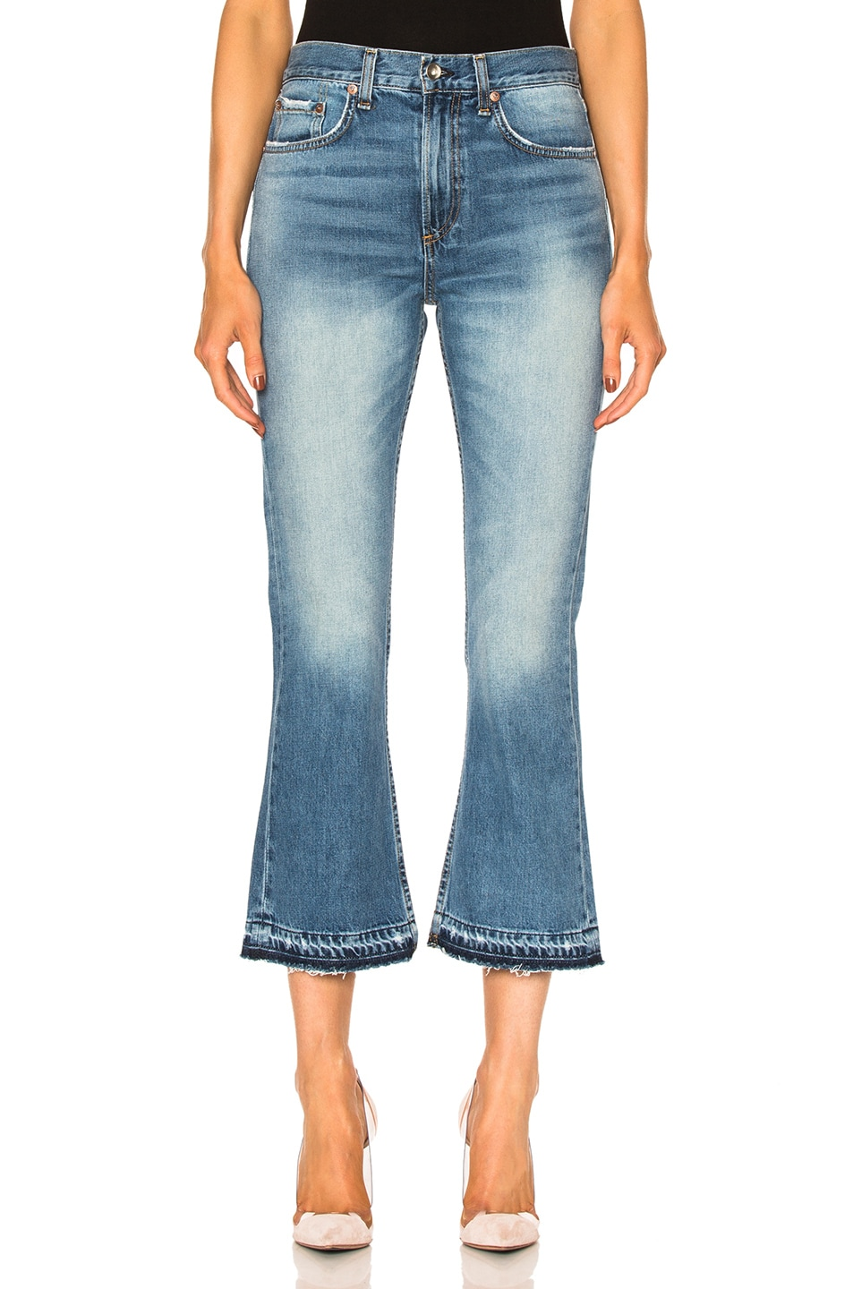Image 1 of rag & bone/JEAN Vintage Crop Flare in Carlsbad