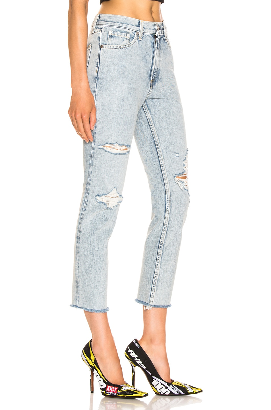Image 2 of Rag & Bone High Rise Skinny in Madison with Holes