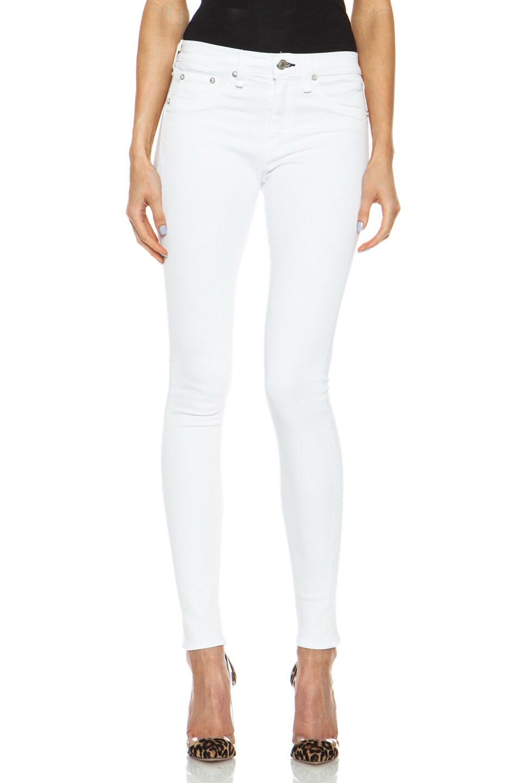 Image 1 of rag & bone/JEAN High Rise Skinny Jean in Bright White