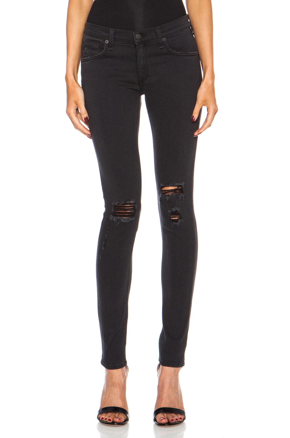 f3c2201a3da7 Image 1 of rag & bone/JEAN The Skinny in Soft Rock with Holes