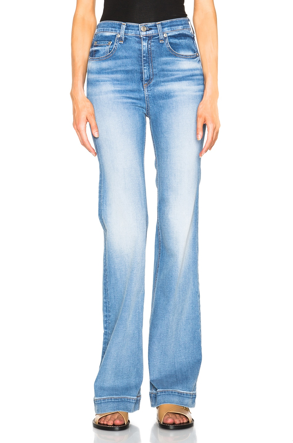 febd7783b6fe4 Image 1 of rag   bone JEAN Justine Wide Leg in Arsenal