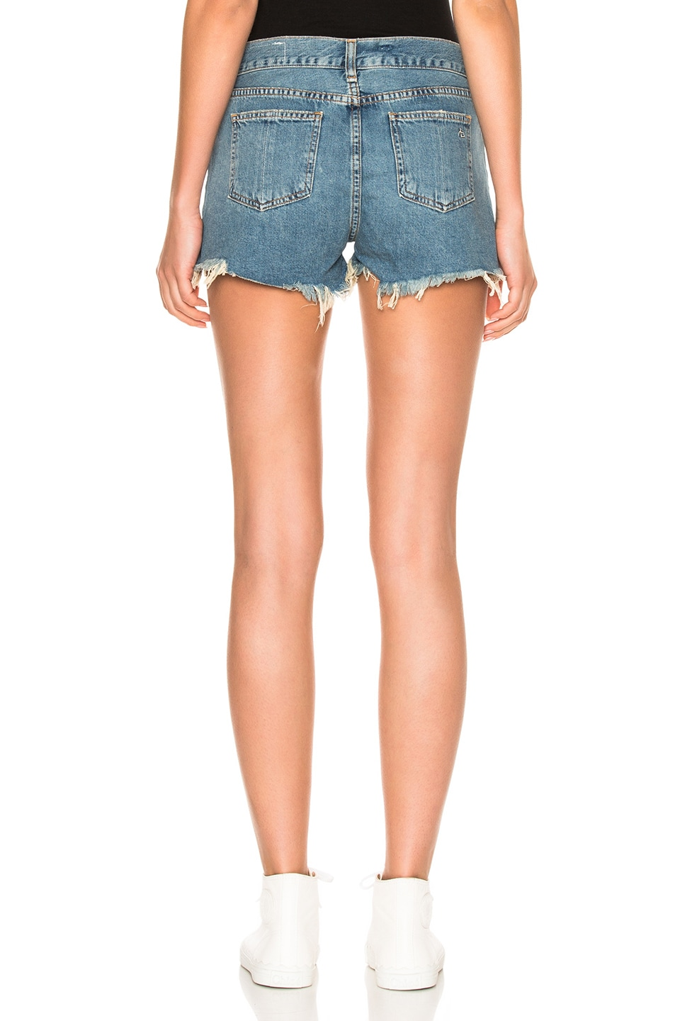 RAG & BONE Cut Off Denim Shorts in Blue