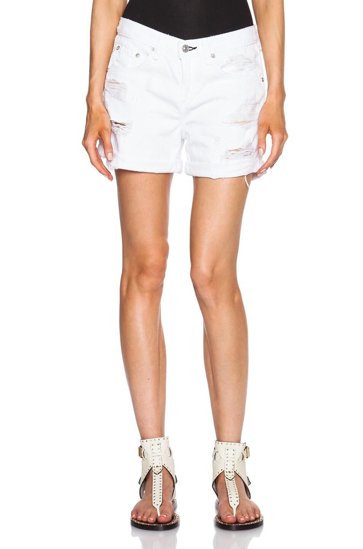 Image 1 of rag & bone/JEAN Boyfriend Shorts in Rebel Bright White