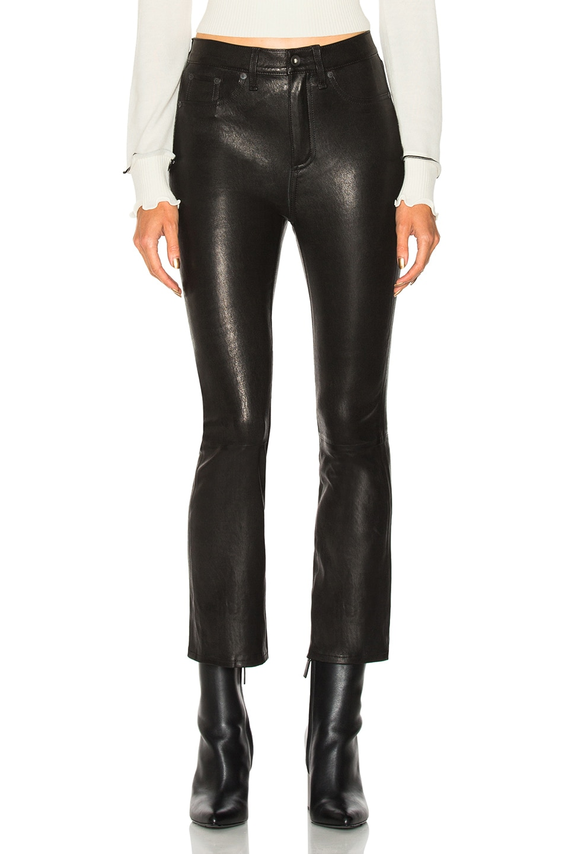 Image 1 of Rag & Bone Hana Leather Pant in Black