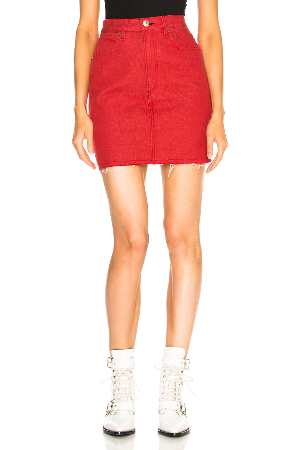 b0be95c529 Image 1 of rag & bone/JEAN Moss Skirt in Bull Red