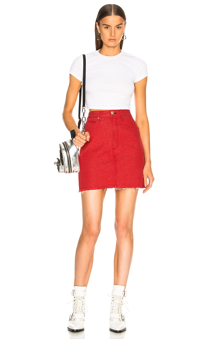 e8108126b1 Image 4 of rag & bone/JEAN Moss Skirt in Bull Red
