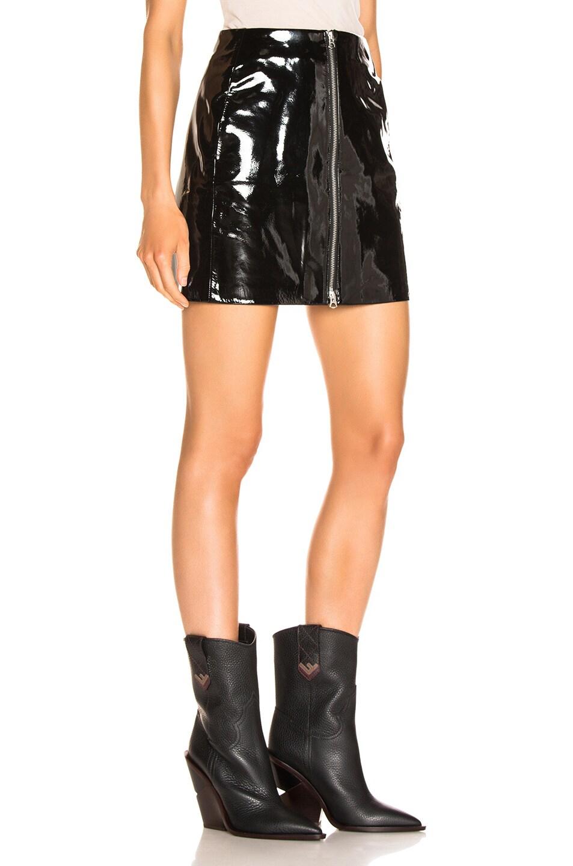Image 2 of rag & bone/JEAN Heidi Patent Skirt in Black