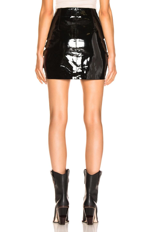 Image 3 of rag & bone/JEAN Heidi Patent Skirt in Black