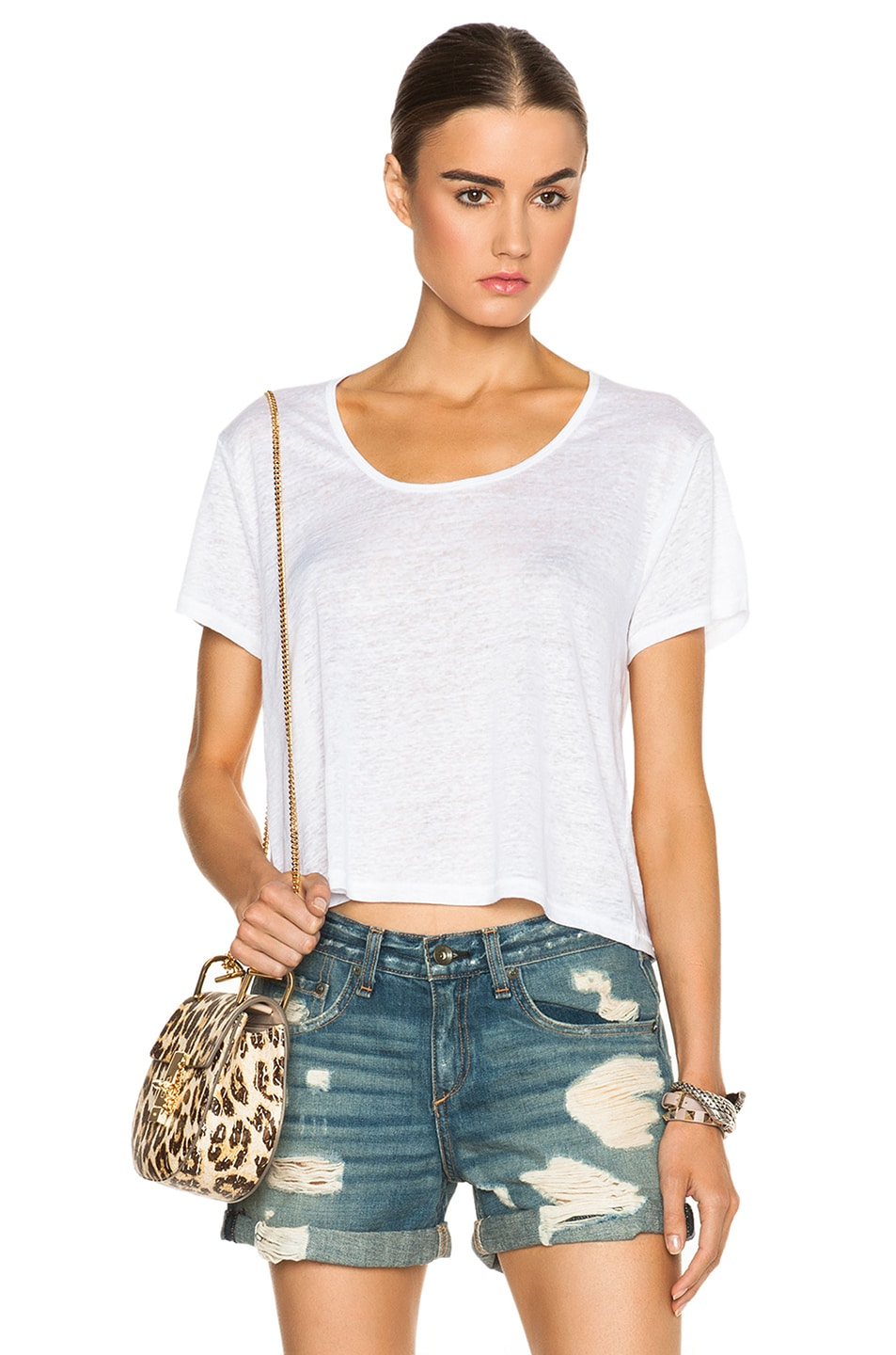 Image 1 of rag & bone/JEAN Cody Tee in Off White
