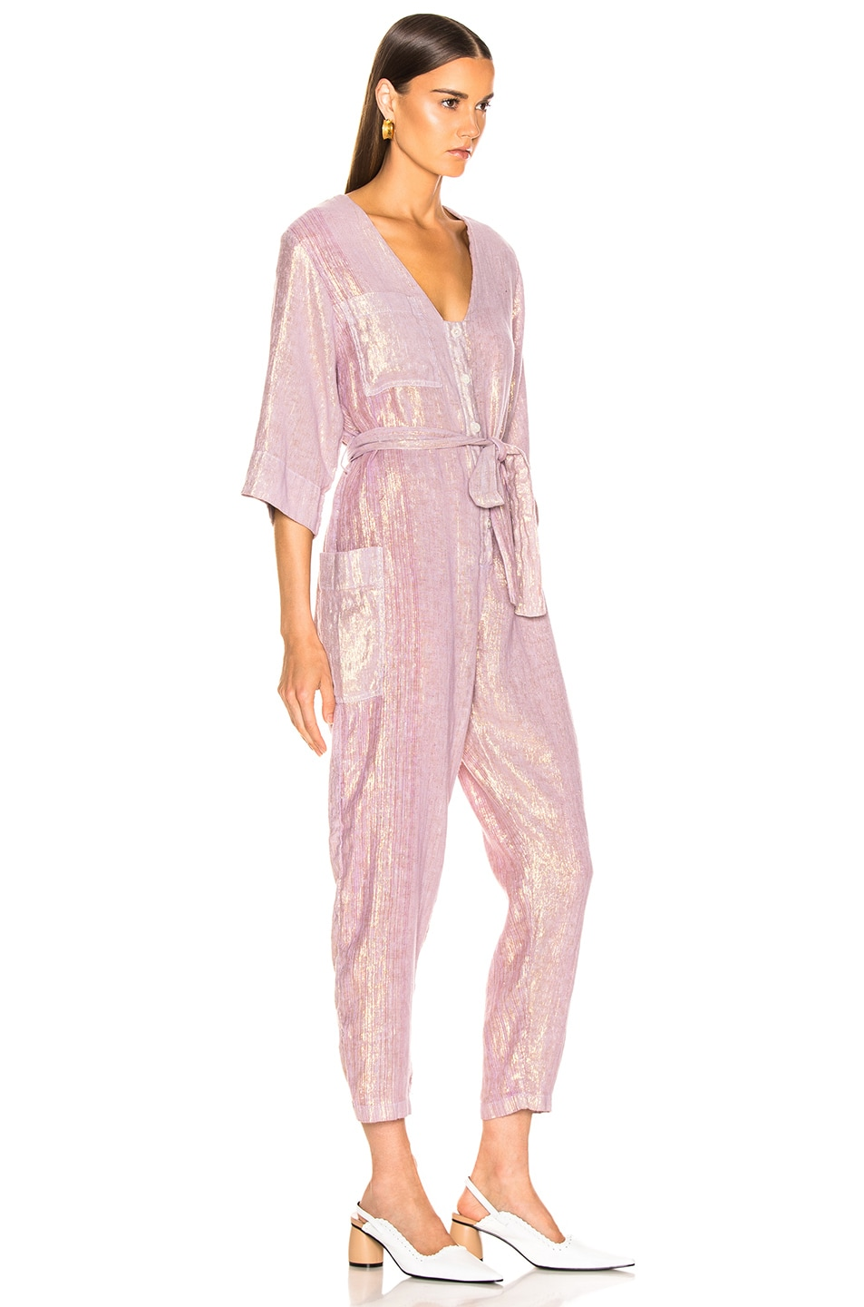 Image 2 of Raquel Allegra Utility Suit in Lilac