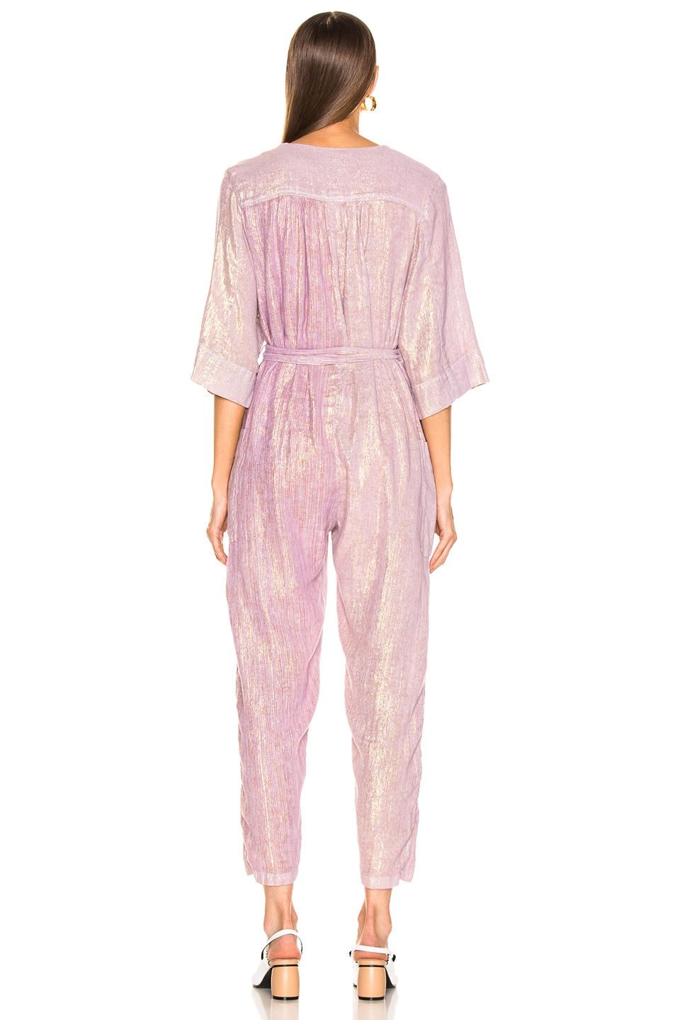 Image 3 of Raquel Allegra Utility Suit in Lilac