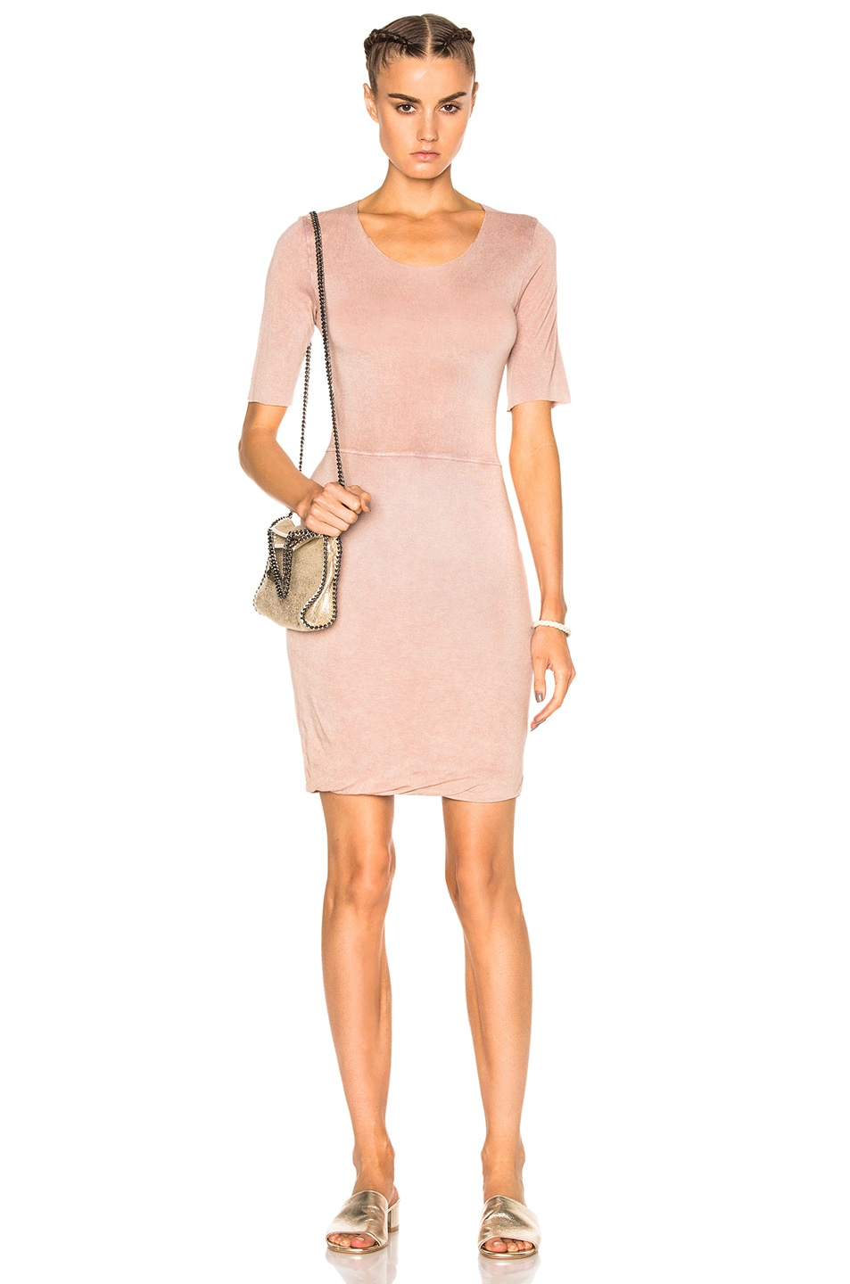Image 1 of Raquel Allegra Jersey Twist Dress in Rose