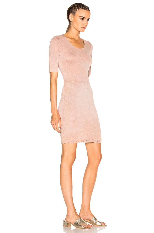 Image 3 of Raquel Allegra Jersey Twist Dress in Rose
