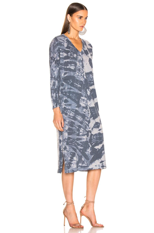 Image 2 of Raquel Allegra Long Sleeve V Neck Caftan in Water Tie Dye