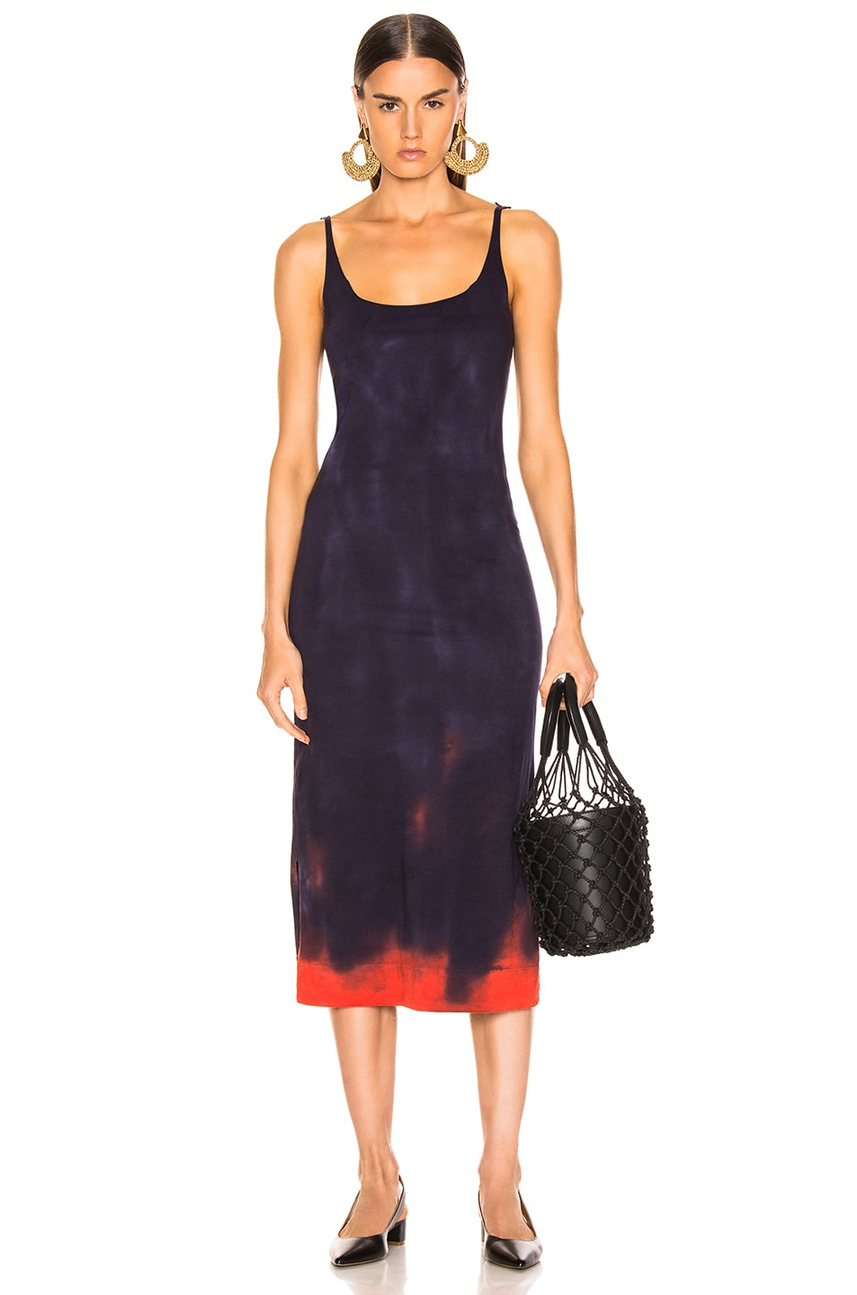 Image 1 of Raquel Allegra Layering Tank Dress in Nightshade Tie Dye