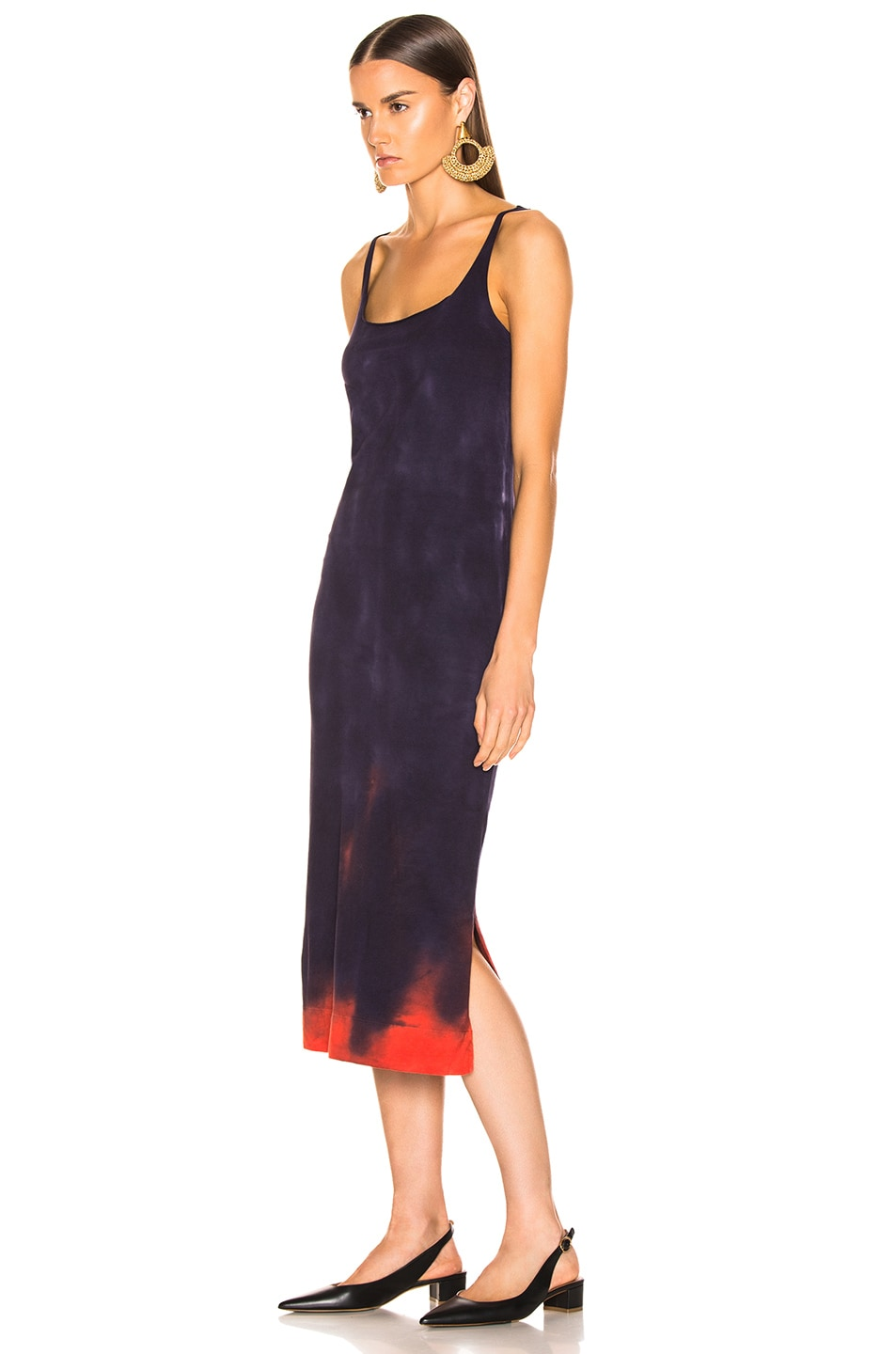 Image 3 of Raquel Allegra Layering Tank Dress in Nightshade Tie Dye
