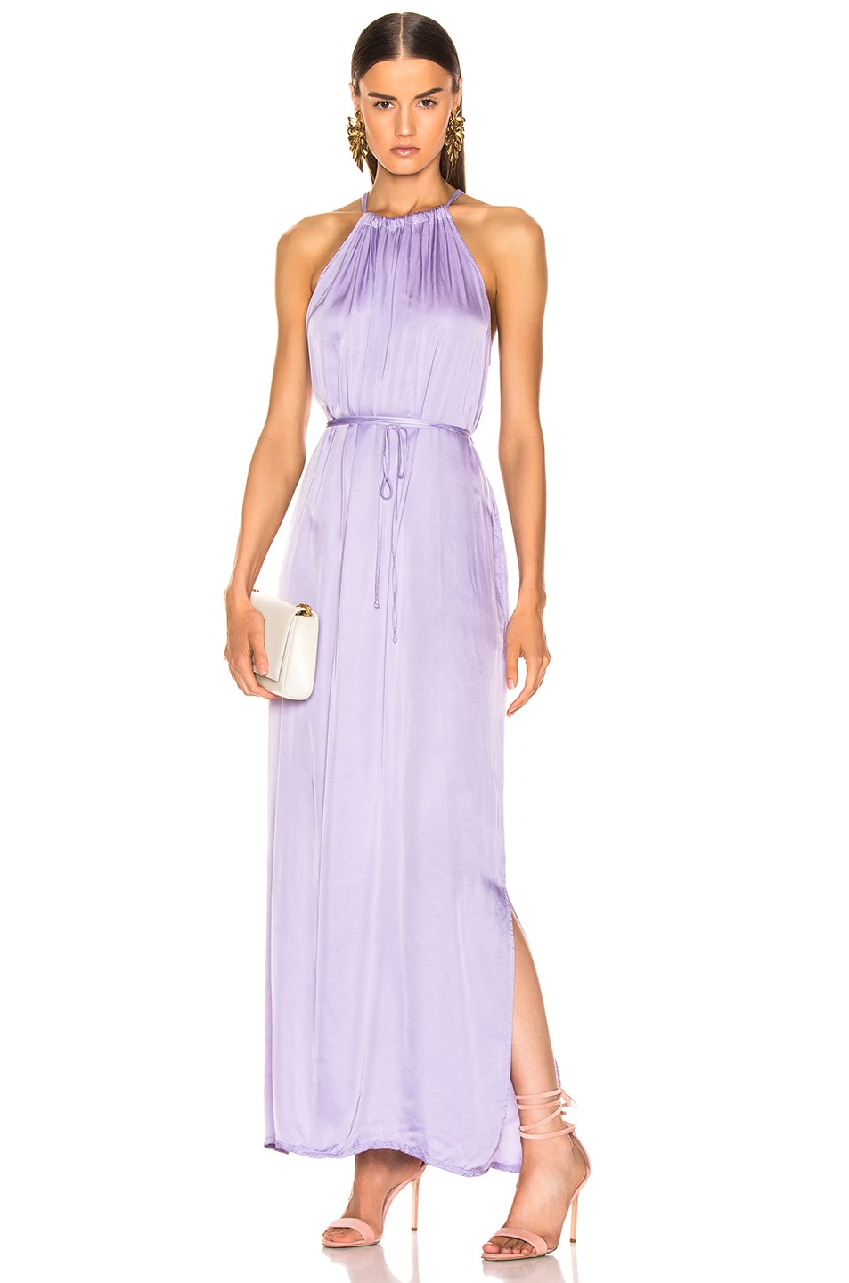 Image 1 of Raquel Allegra Halter Dress in Lilac