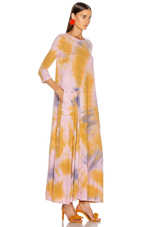 Image 2 of Raquel Allegra 3/4 Sleeve Drama Maxi Dress in Solar Tie Dye