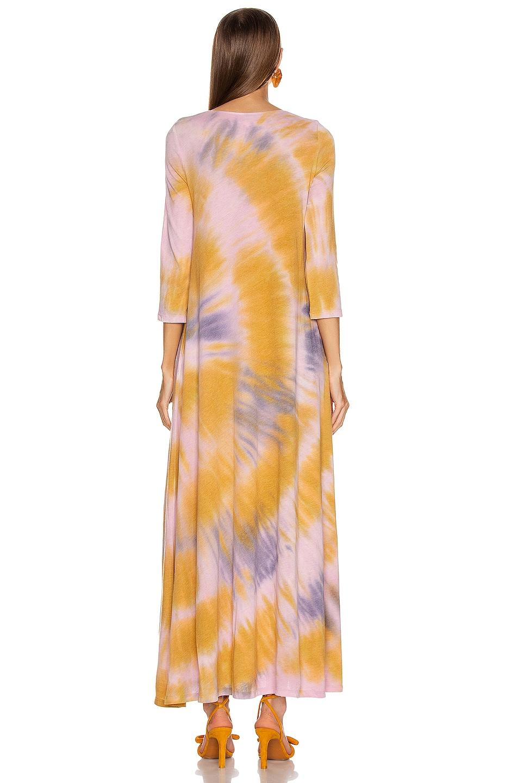 Image 3 of Raquel Allegra 3/4 Sleeve Drama Maxi Dress in Solar Tie Dye