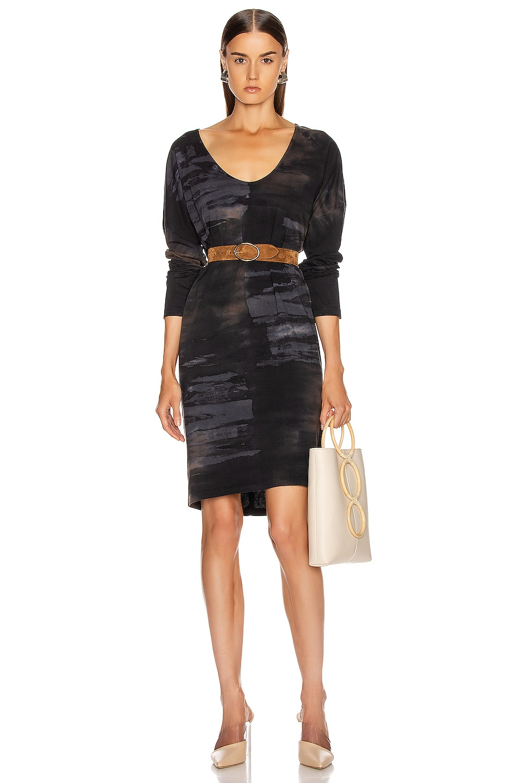 Image 1 of Raquel Allegra Raglan Dress in Midnight Tie Dye