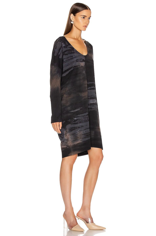 Image 2 of Raquel Allegra Raglan Dress in Midnight Tie Dye