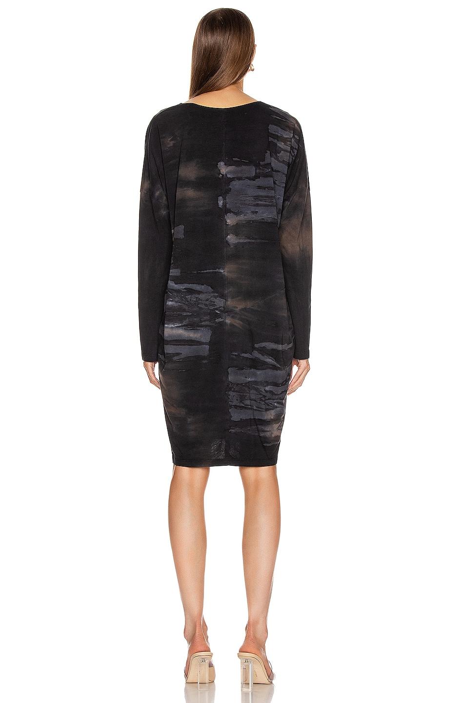 Image 3 of Raquel Allegra Raglan Dress in Midnight Tie Dye
