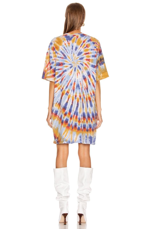 Image 4 of Raquel Allegra T Shirt Dress in Rainbow Tie Dye