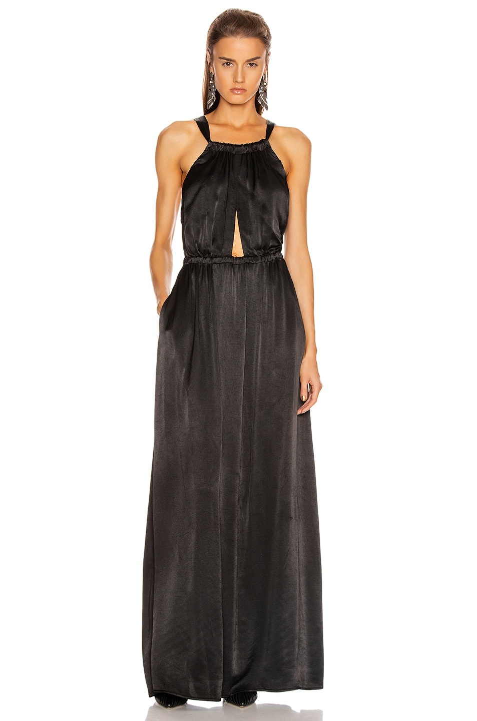 Image 1 of Raquel Allegra Keyhole Dress in Black