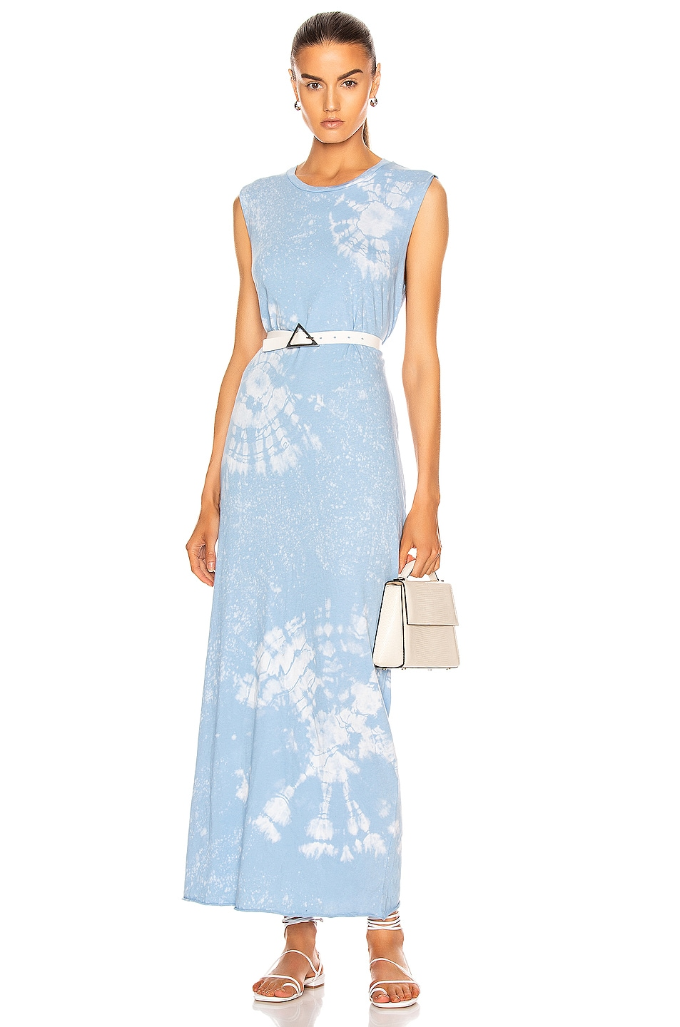 Image 1 of Raquel Allegra Muscle Maxi Dress in Blue Constellation