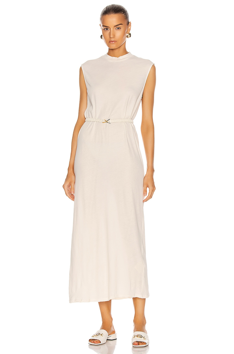 Image 1 of Raquel Allegra Mock Dress in Dirty White