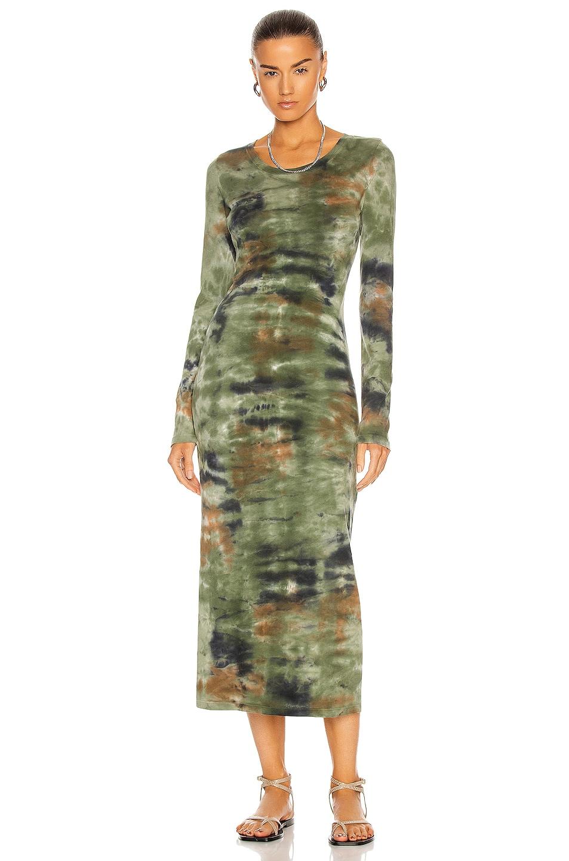 Image 1 of Raquel Allegra Long Sleeve Layering Dress in Army Camo Tie Dye