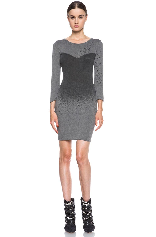 Image 1 of Raquel Allegra Deconstructed Jersey Dress in Stardust Ash Grey
