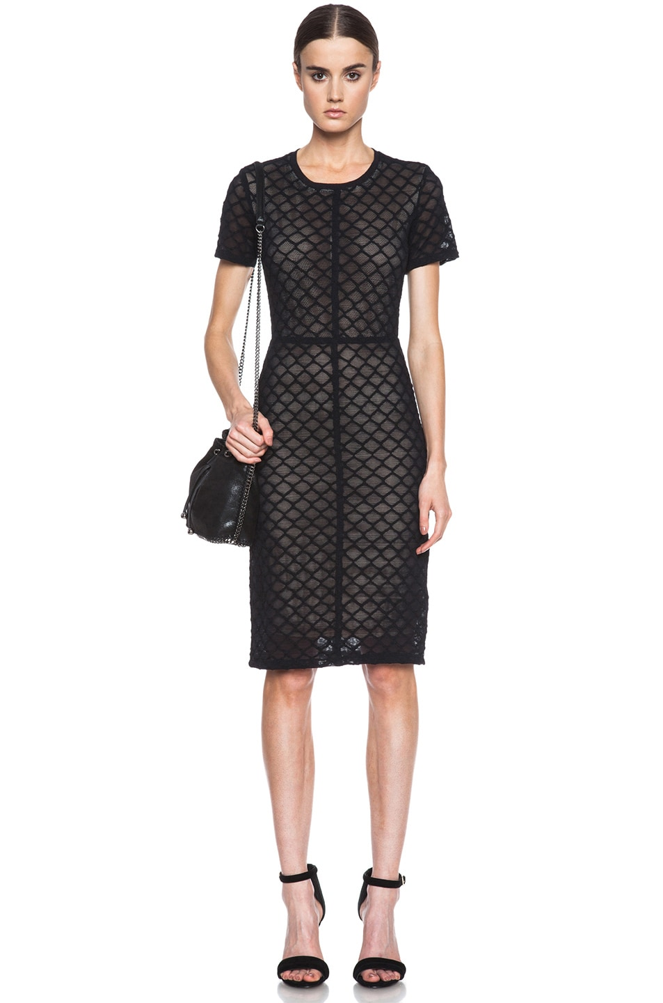 Image 1 of Raquel Allegra Knit Cocktail Dress in Black