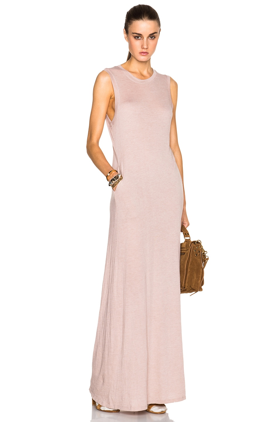Image 1 of Raquel Allegra Sleeveless Maxi Dress in Rose
