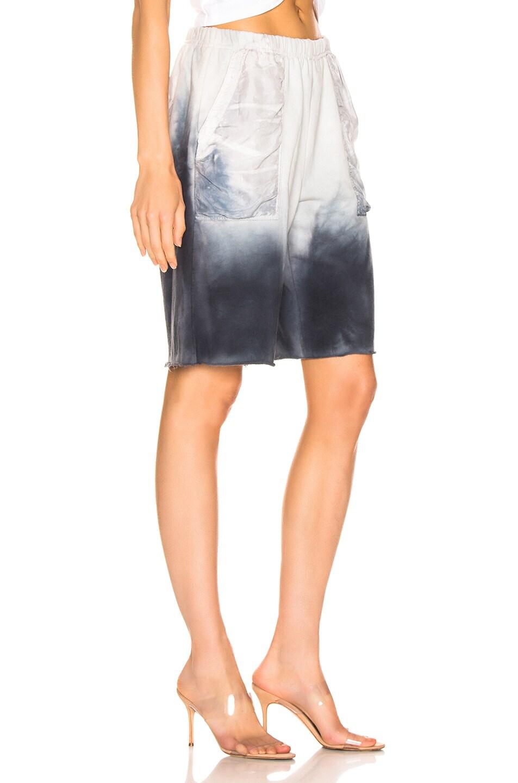 Image 2 of Raquel Allegra Fleece Shorts in Wind Tie Dye