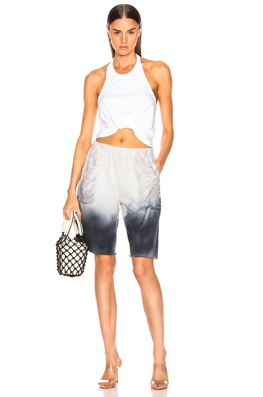 Image 4 of Raquel Allegra Fleece Shorts in Wind Tie Dye