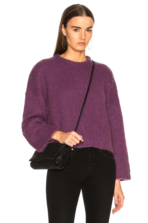 Image 1 of Raquel Allegra Boxy Crew Alpaca Sweater in Iris