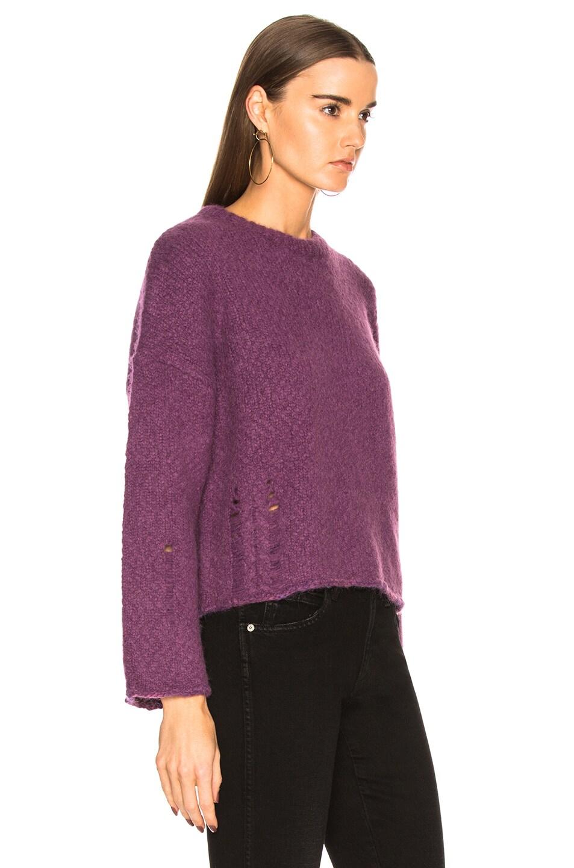 Image 2 of Raquel Allegra Boxy Crew Alpaca Sweater in Iris