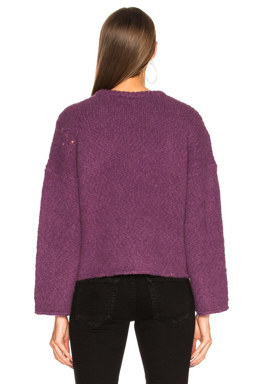 Image 3 of Raquel Allegra Boxy Crew Alpaca Sweater in Iris