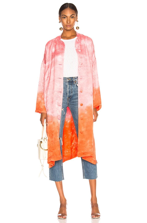 Image 1 of Raquel Allegra Kimono in Grapefruit Tie Dye