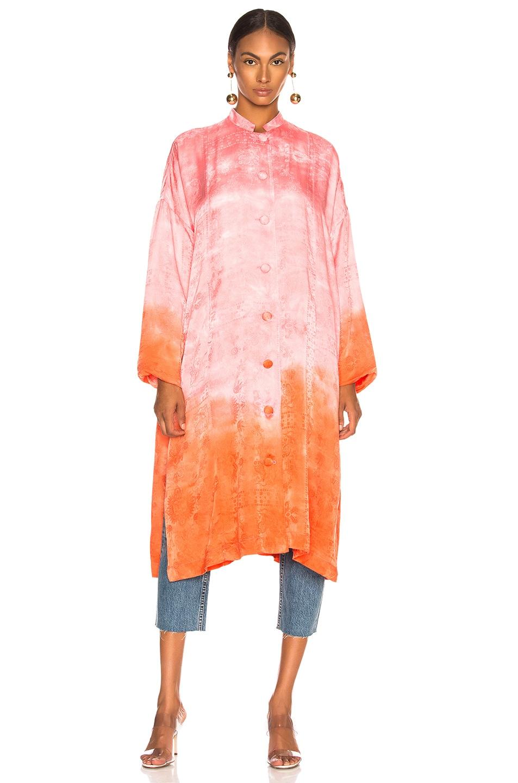 Image 2 of Raquel Allegra Kimono in Grapefruit Tie Dye