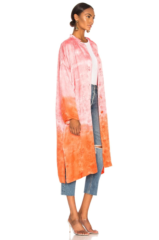 Image 3 of Raquel Allegra Kimono in Grapefruit Tie Dye