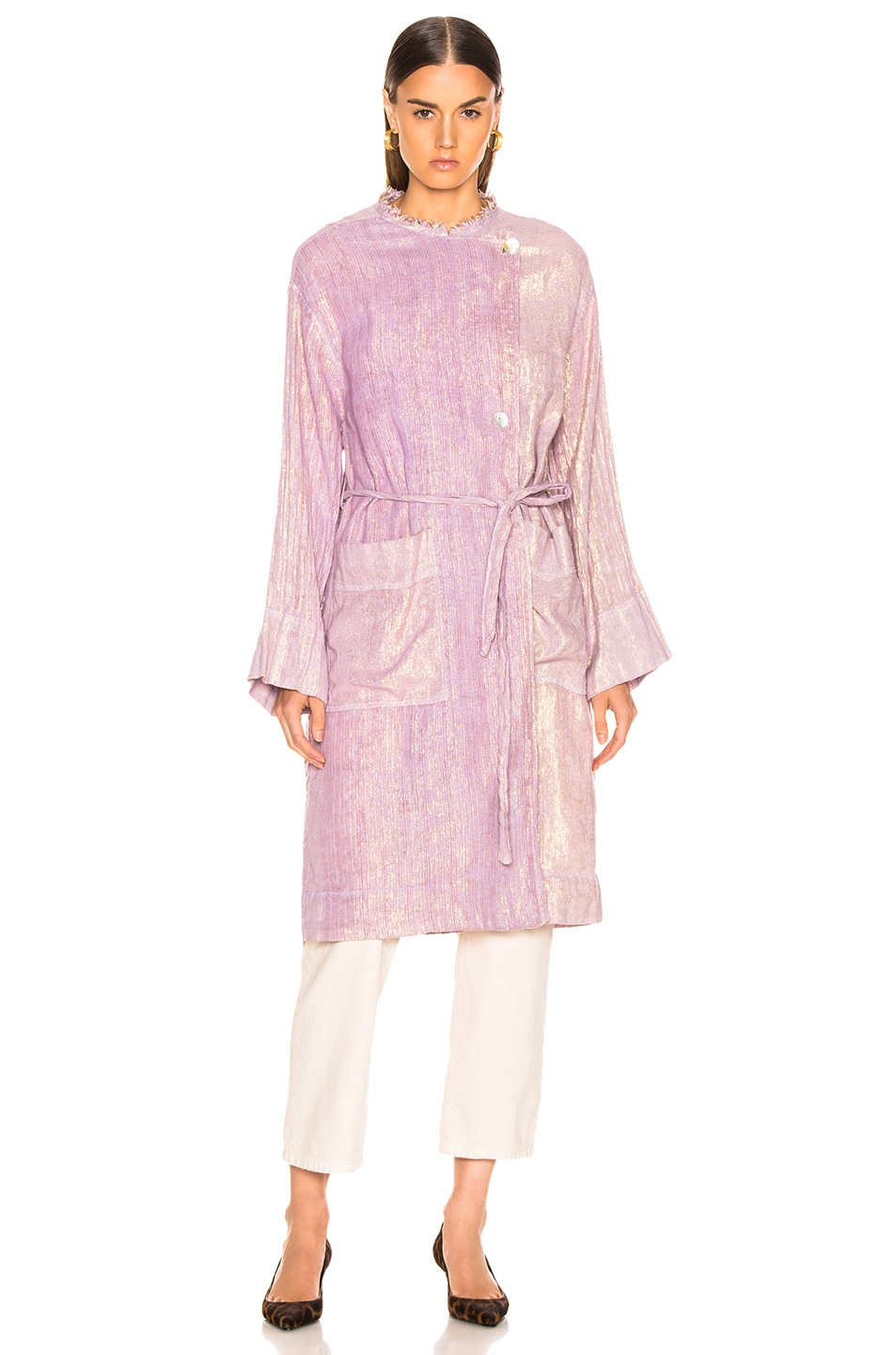 Image 3 of Raquel Allegra Cropped Trench in Lilac
