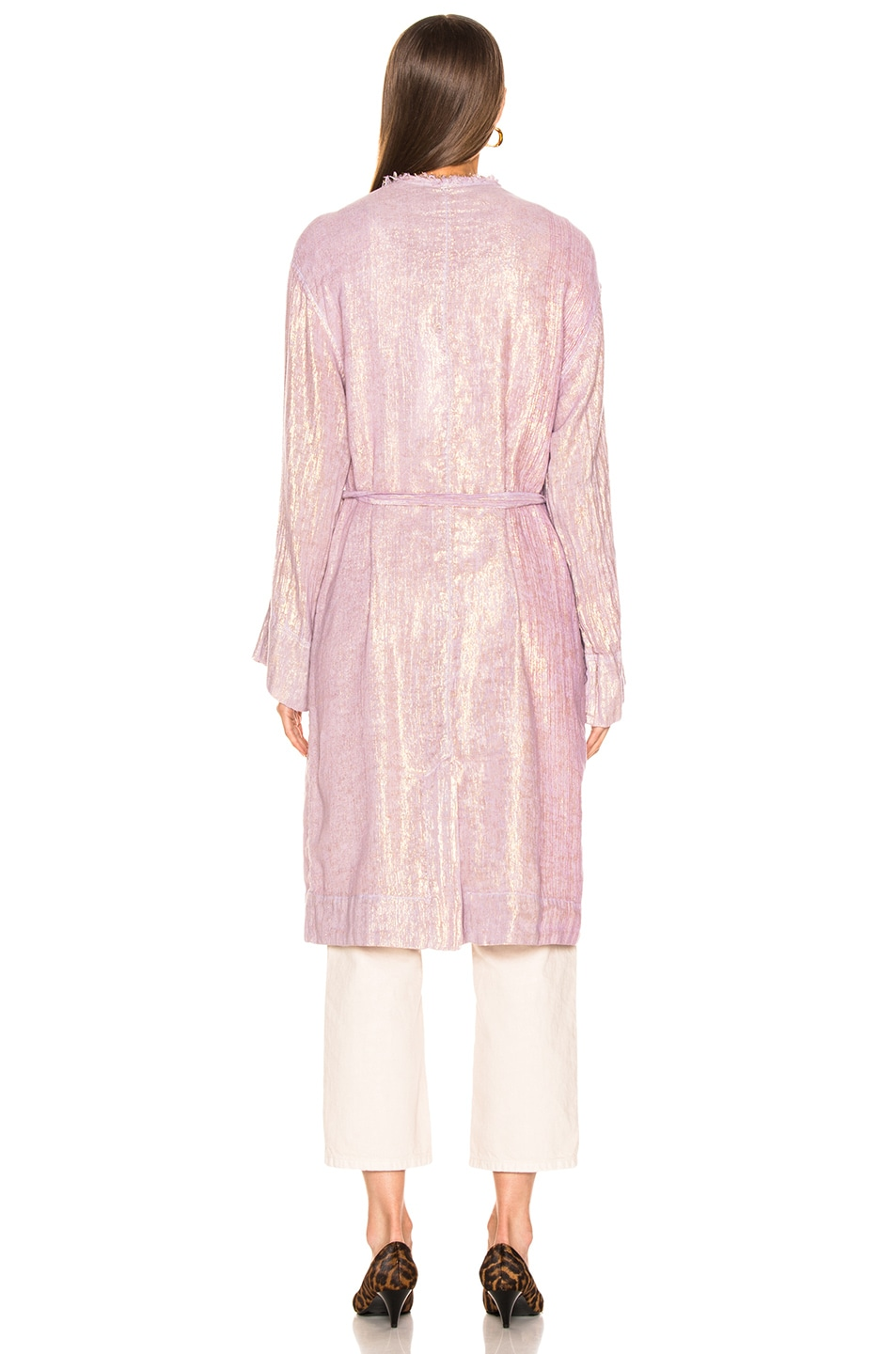 Image 5 of Raquel Allegra Cropped Trench in Lilac