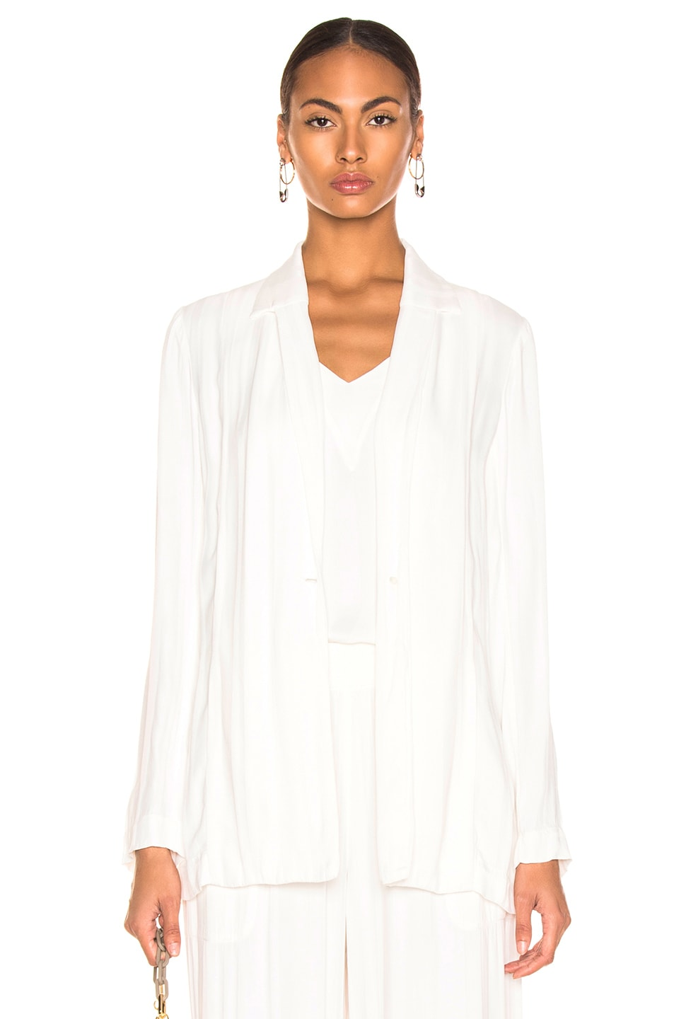 Image 1 of Raquel Allegra Relaxed Blazer in Ivory